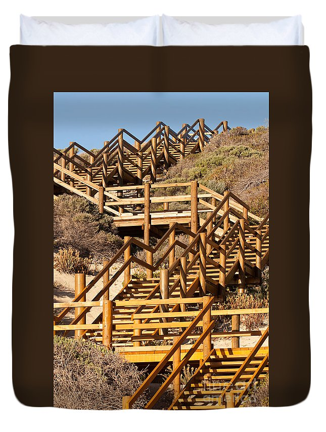 Australia Duvet Cover featuring the photograph Dune Steps 06 by Rick Piper Photography