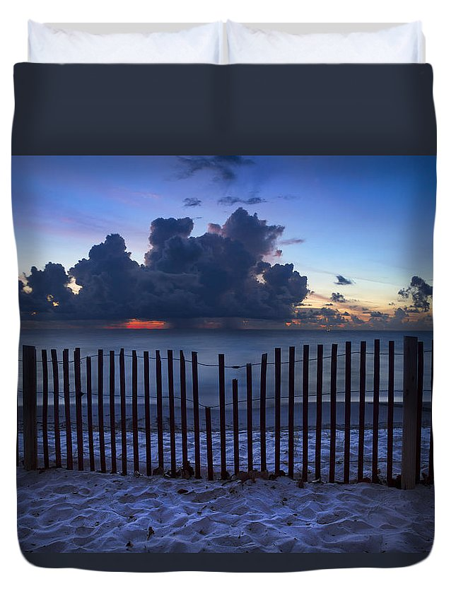 Clouds Duvet Cover featuring the photograph Dunes At Dawn by Debra and Dave Vanderlaan