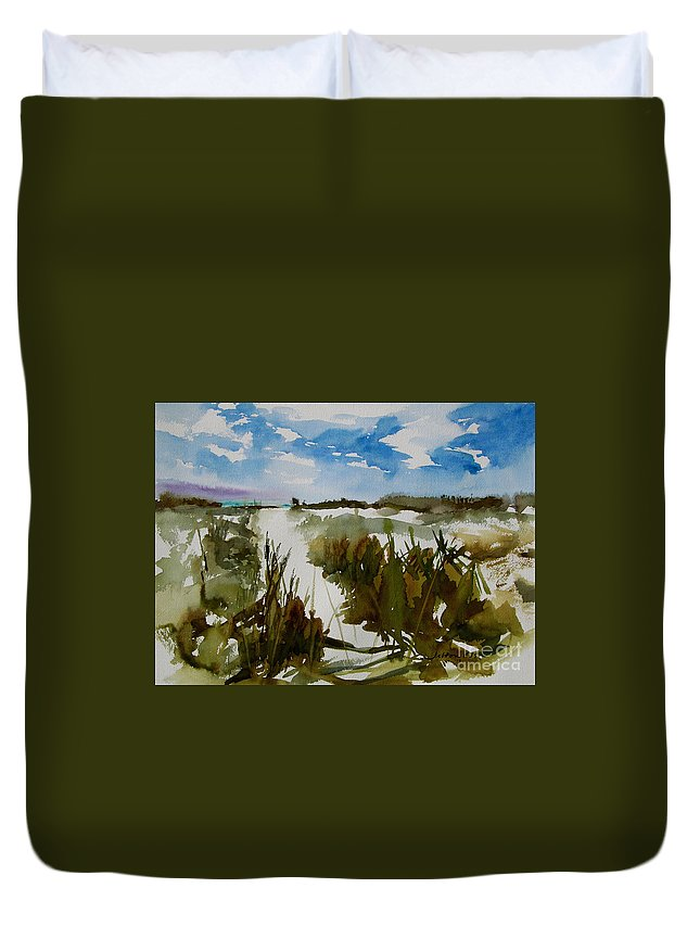 Art Duvet Cover featuring the painting Dunes by Julianne Felton