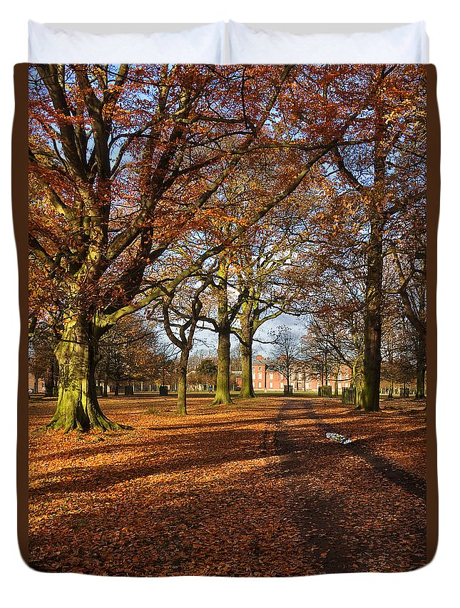 Travel Duvet Cover featuring the photograph Dunham Massey by Louise Heusinkveld