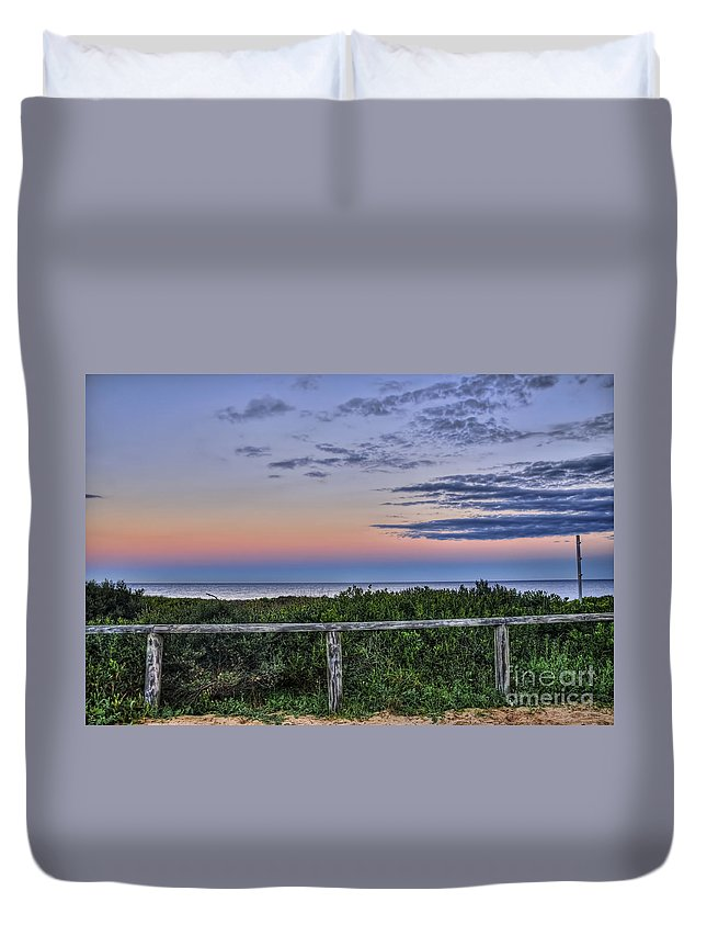 Photography Duvet Cover featuring the photograph Dusk by Kaye Menner