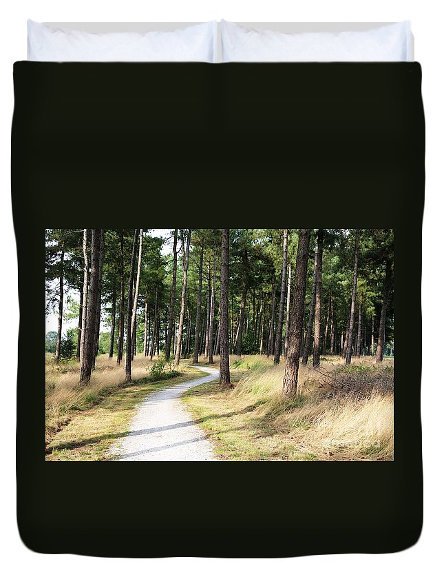 Dutch Duvet Cover featuring the photograph Dutch Country Bicycle Path by Carol Groenen