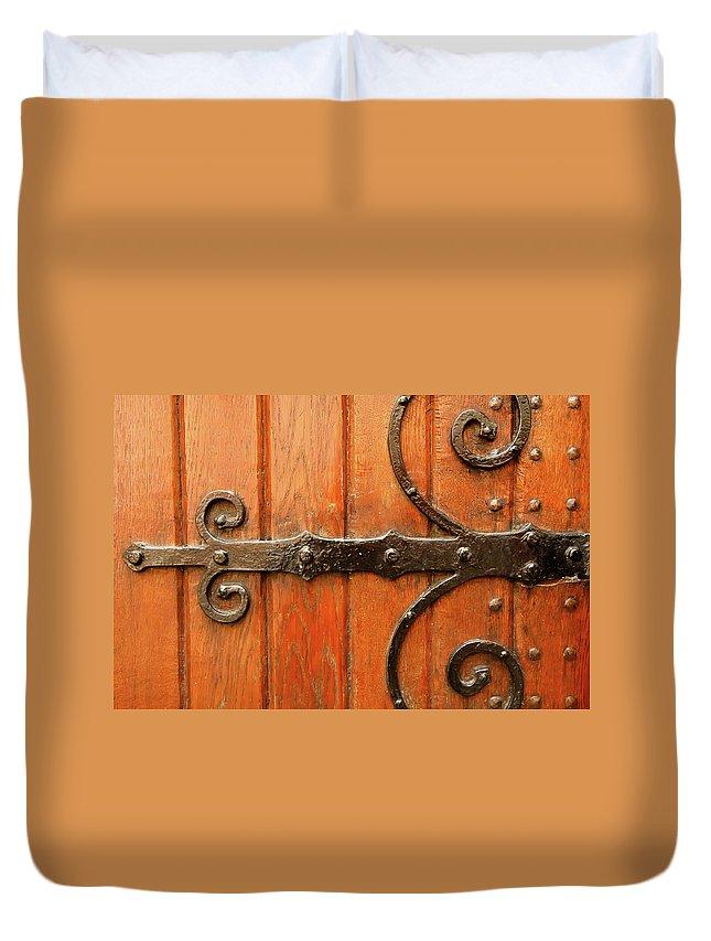 Kg Duvet Cover featuring the photograph Dutch Hinge by KG Thienemann