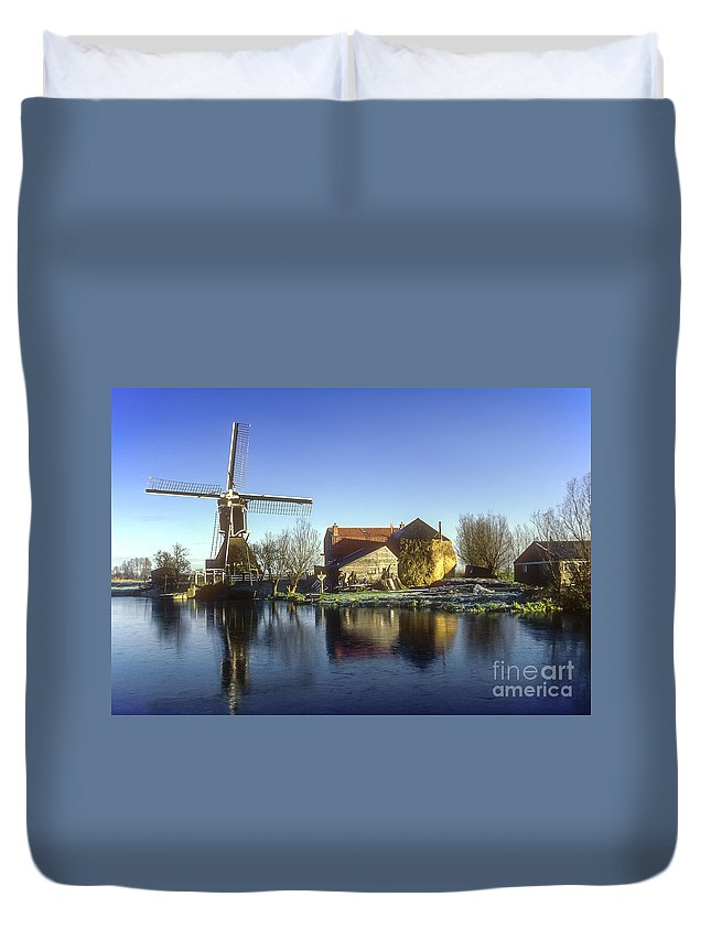 Dutch Windmill Duvet Cover featuring the photograph Dutch Windmill by Bob Phillips