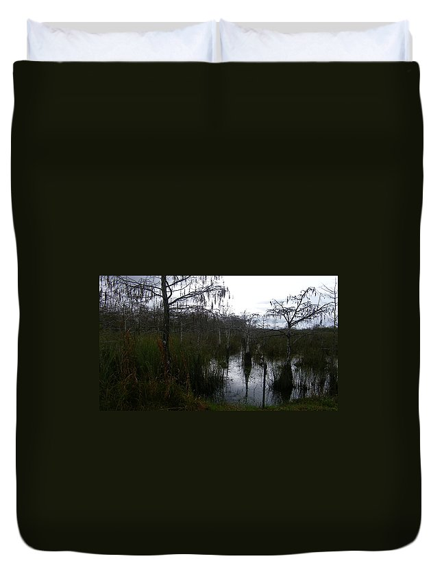 Everglades National Park Miami Florida Cypress Trees Swamp Pool Nature Duvet Cover featuring the photograph Dwarf Cypress Pool by John Wall