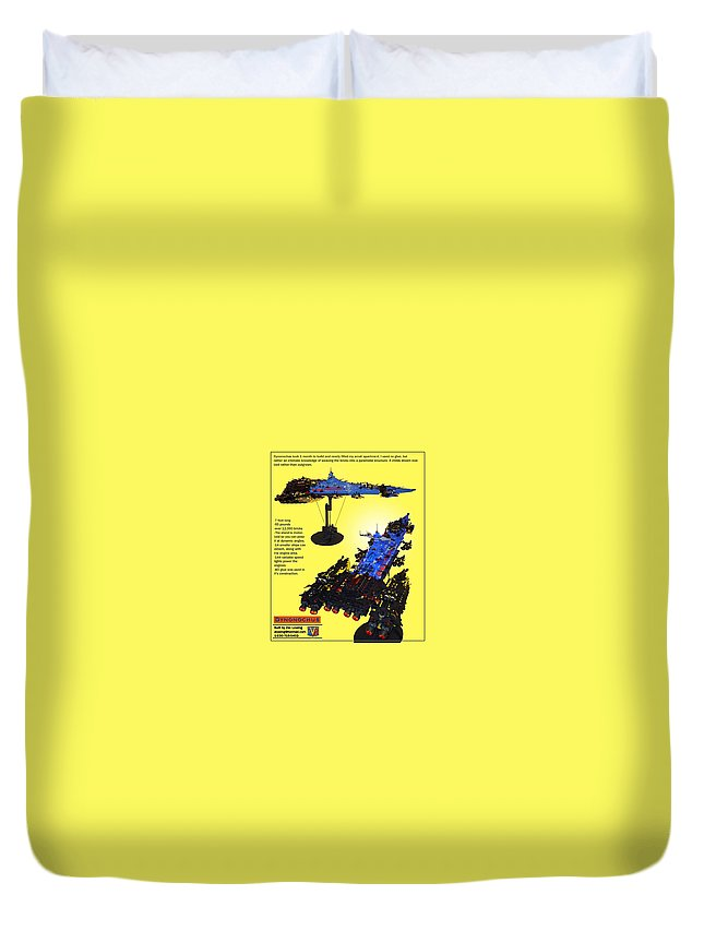Legos Duvet Cover featuring the photograph Dynonochus Flyer Back by Zac AlleyWalker Lowing