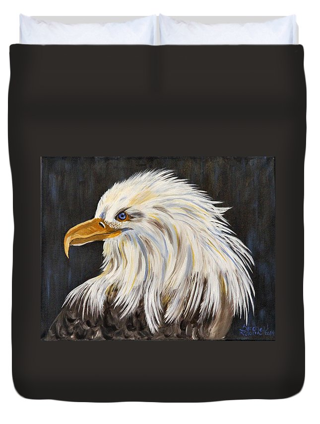 Eagle Duvet Cover featuring the painting Eagle by Victoria Sanchez