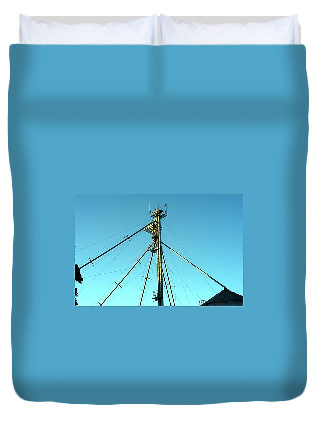 Elevator Duvet Cover featuring the photograph Early Directions by Joseph Yarbrough
