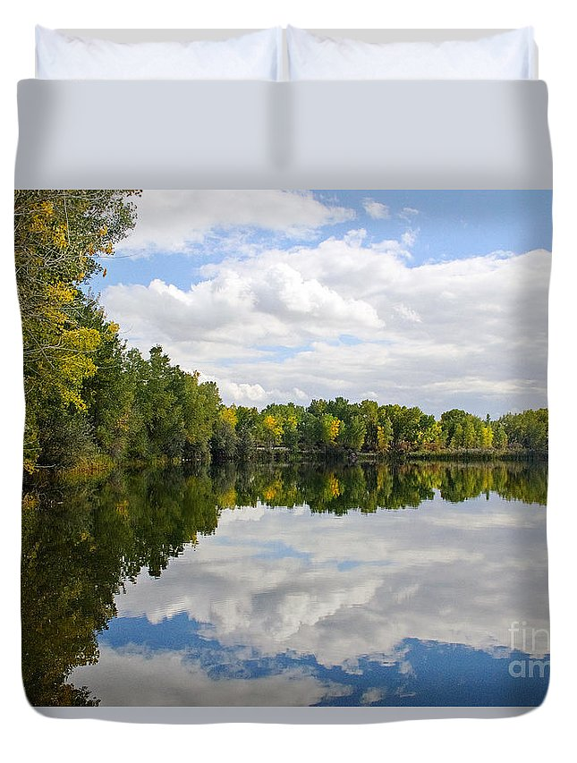 Colorado Duvet Cover featuring the photograph Early Fall Reflections by Bob Hislop