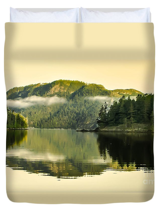 Reflections Duvet Cover featuring the photograph Early Morning Reflections by Robert Bales
