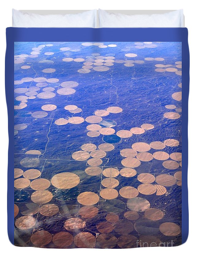 Crop Circles Duvet Cover featuring the photograph Earth Circles by Anthony Wilkening