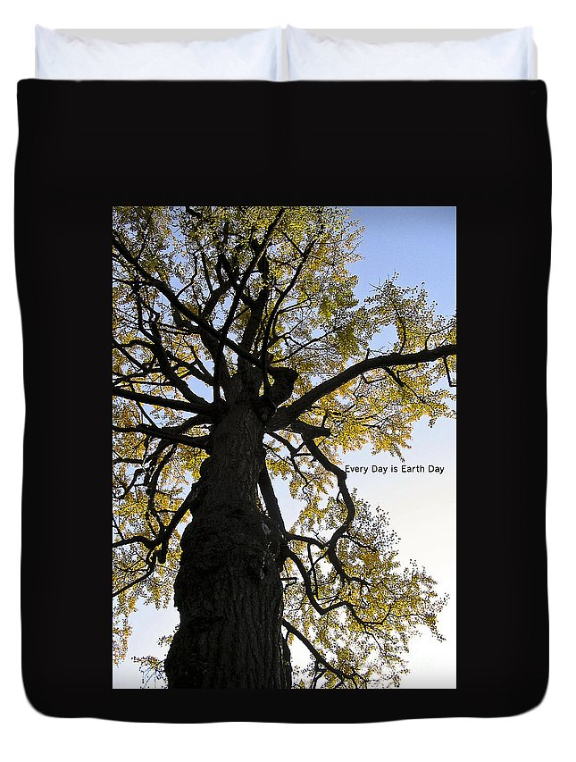 Photography Duvet Cover featuring the photograph Earth Day Special - Ancient Tree by Ivy Ho
