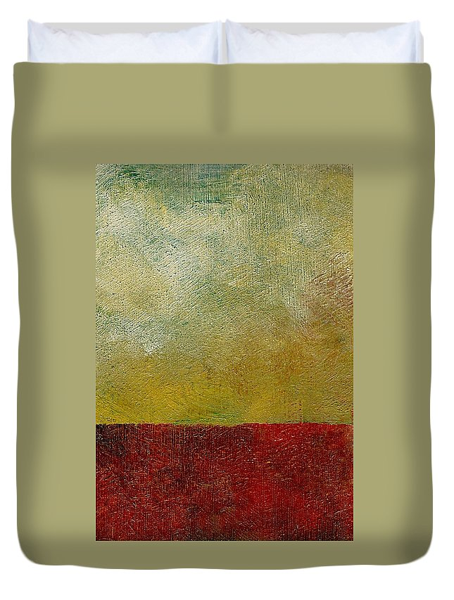 Abstract Landscape Duvet Cover featuring the painting Earth Study One by Michelle Calkins
