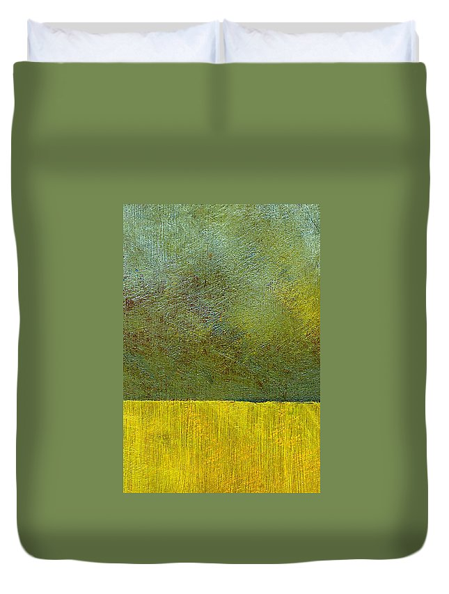 Abstract Landscape Duvet Cover featuring the painting Earth Study Two by Michelle Calkins