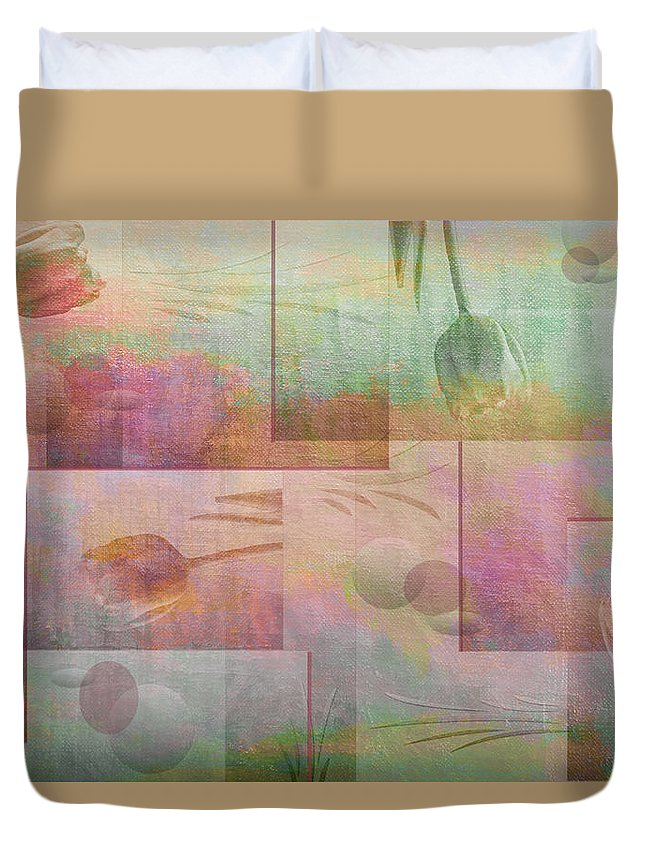 Abstract Duvet Cover featuring the photograph Earthly Garden by Linda Dunn