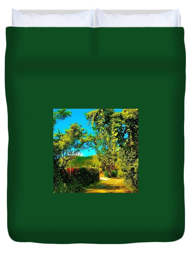 Landscape Duvet Cover featuring the photograph East End St. John's Usvi by Tamara Michael