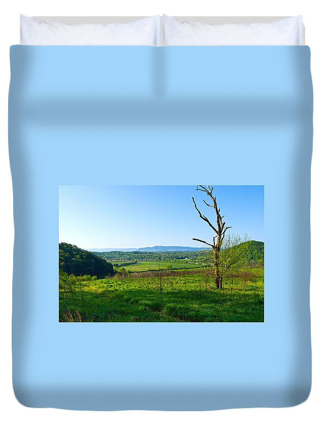 View Duvet Cover featuring the photograph East Tennessee by Melinda Fawver
