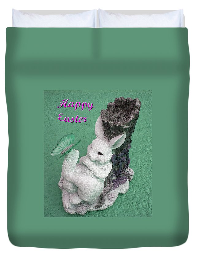 Easter Card Duvet Cover featuring the photograph Easter Card 1 by Aimee L Maher ALM GALLERY