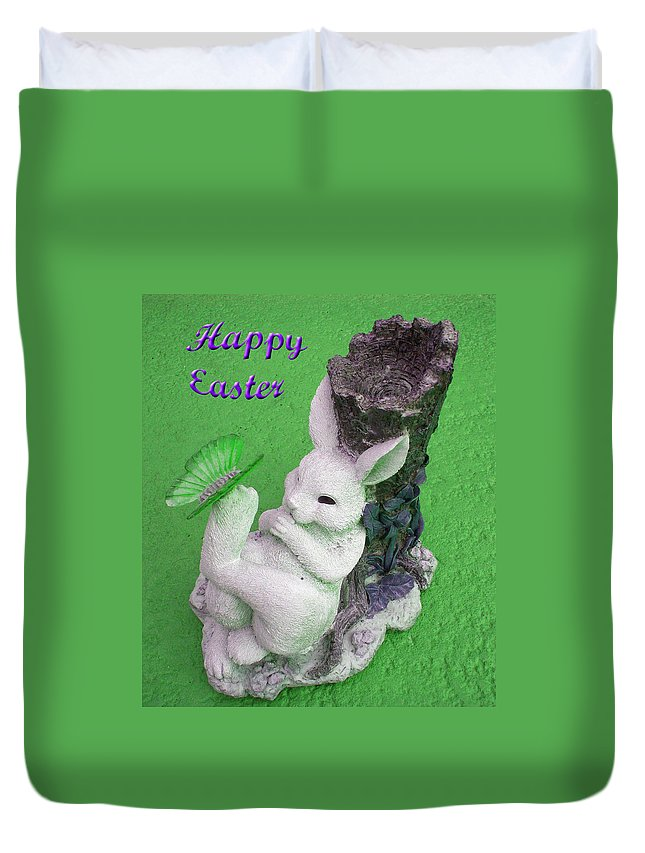 Easter Card Duvet Cover featuring the photograph Easter Card 2 by Aimee L Maher ALM GALLERY