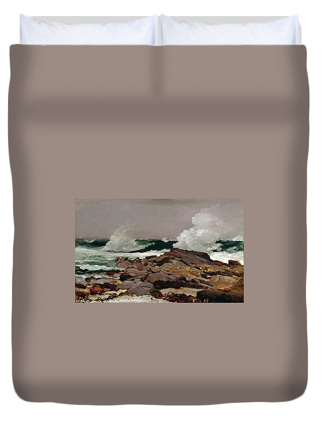 Eastern Duvet Cover featuring the painting Eastern Point 1900 by Philip Ralley