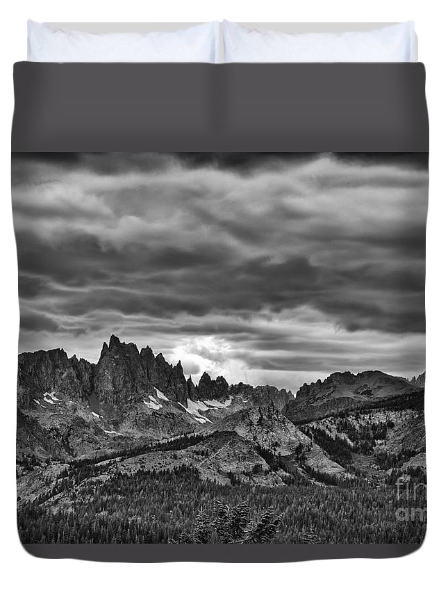Sierras Duvet Cover featuring the photograph Eastern Sierras Summer Storm by Terry Garvin