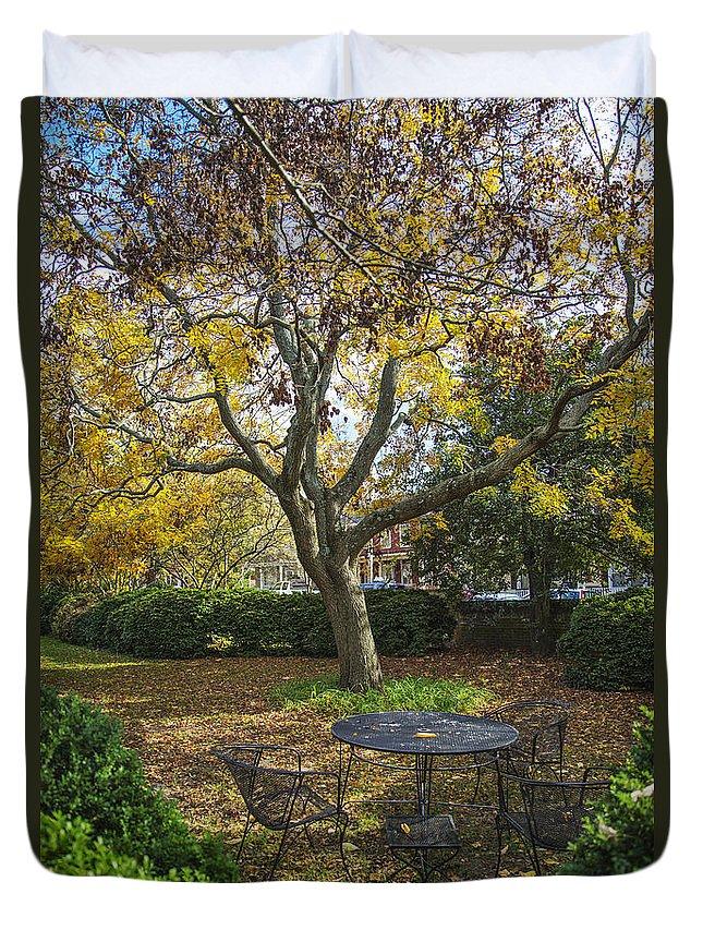 2d Duvet Cover featuring the photograph Easton Garden by Brian Wallace