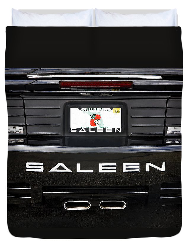 Mustang Duvet Cover featuring the photograph Easy Saleen by Rich Franco