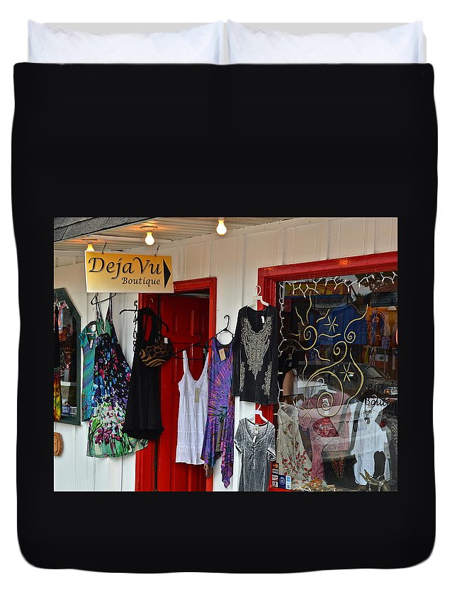 Deja Vu Duvet Cover featuring the photograph Eclectic Boutique by Frozen in Time Fine Art Photography