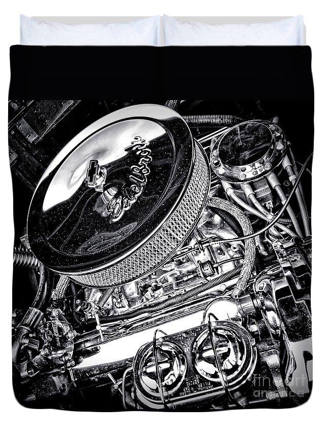 Edelbrock Duvet Cover featuring the photograph Edelbrock by Olivier Le Queinec