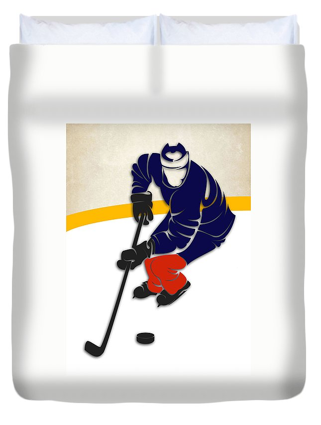 Oilers Duvet Cover featuring the photograph Edmonton Oilers Rink by Joe Hamilton