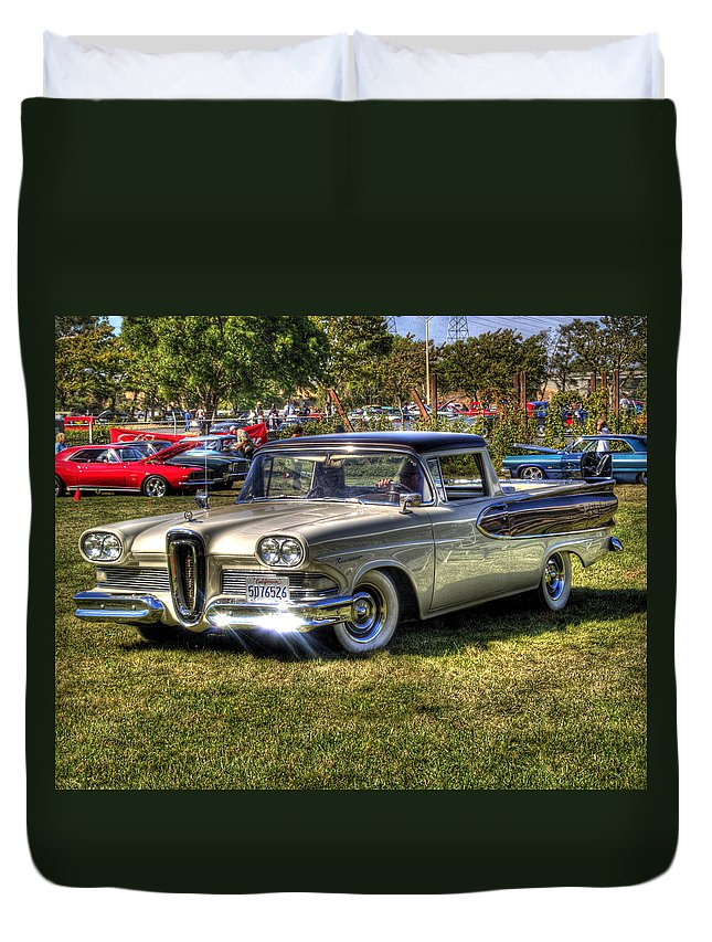 Car Duvet Cover featuring the photograph Edsel Ranchero by Bill Gallagher