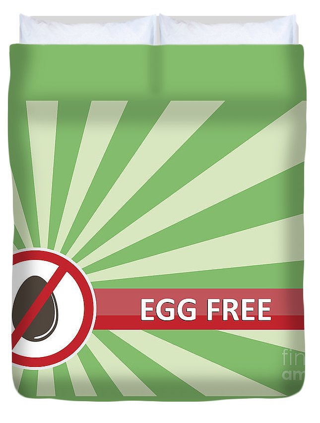 Product Duvet Cover featuring the photograph Egg Free Banner by Tim Hester