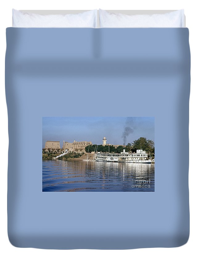 1975 Duvet Cover featuring the photograph Egypt - Nile Steamboat by Granger