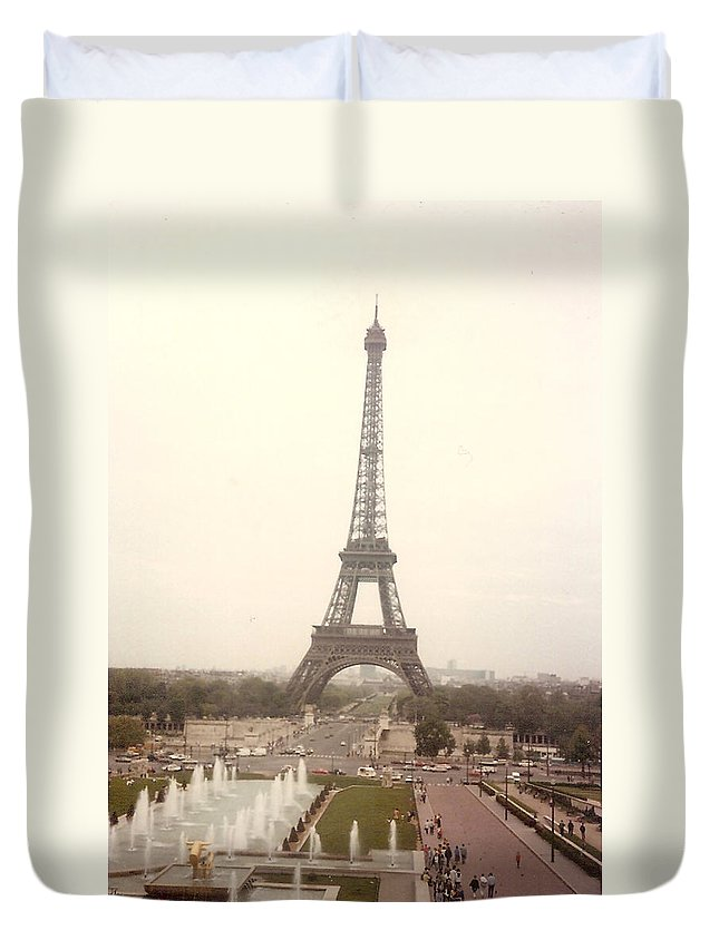 Eiffel Tower Duvet Cover featuring the photograph Eiffel Tower by To-Tam Gerwe