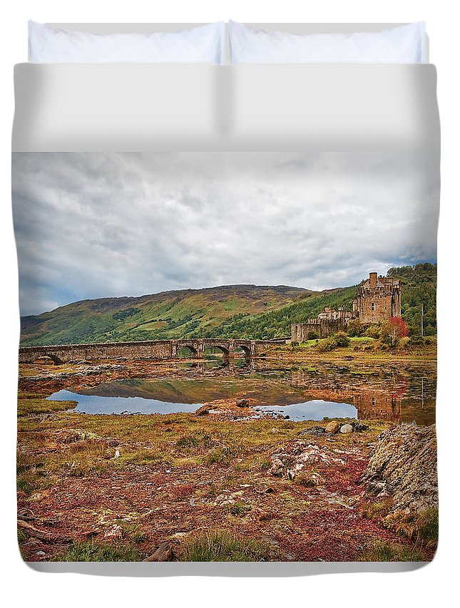 Scotland Duvet Cover featuring the photograph Eilean Donan by Marcia Colelli