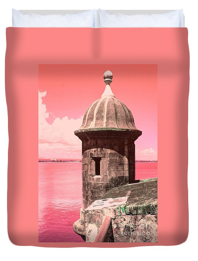 El Morro Duvet Cover featuring the photograph El Morro In The Pink by The Art of Alice Terrill