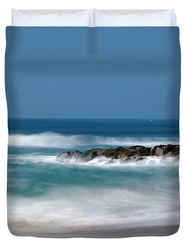 El Segundo Duvet Cover featuring the photograph El Segundo Beach Jetty by Joe Schofield