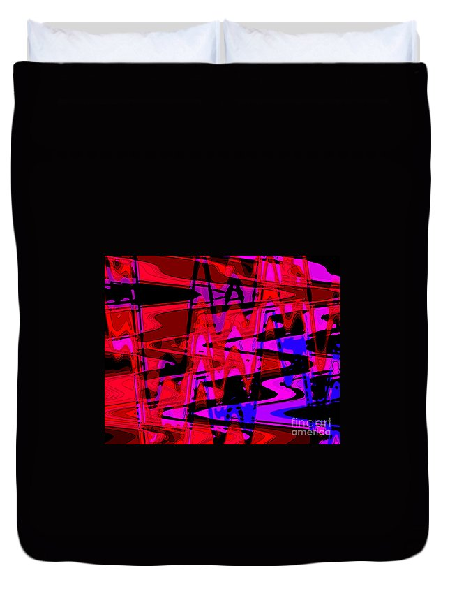 Electric Shivers Duvet Cover featuring the digital art Electric Shivers by Kristi Kruse