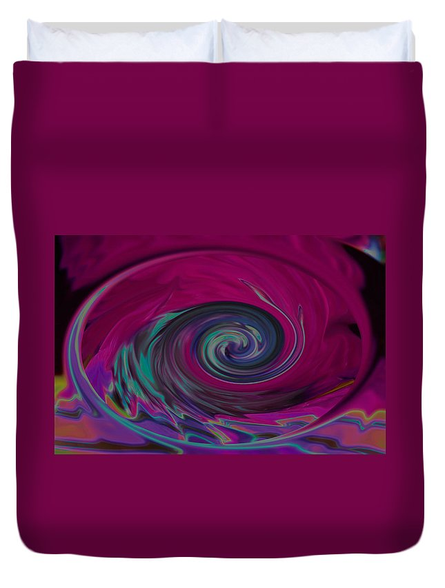 Rainbow Duvet Cover featuring the photograph Electric Tidal Wave by Photos By Cassandra