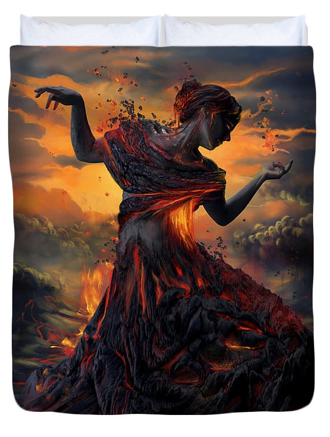 Mythology Digital Art Duvet Covers