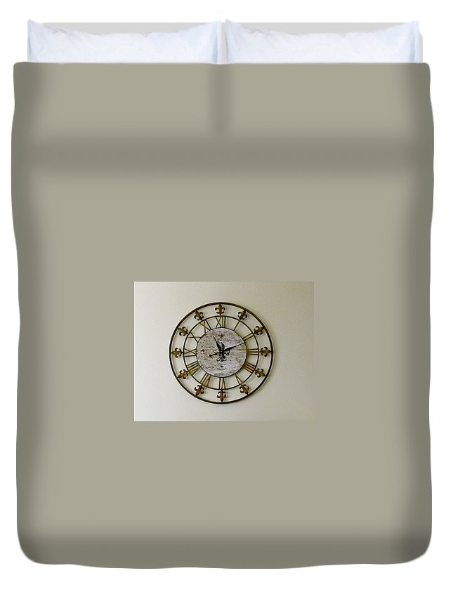 Clock Duvet Cover featuring the photograph Eleven Eleven by Denise Mazzocco