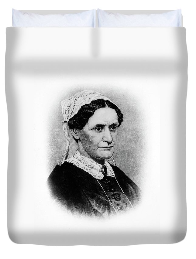 19th Century Duvet Cover featuring the painting Eliza Mccardle Johnson (1810-1876) by Granger