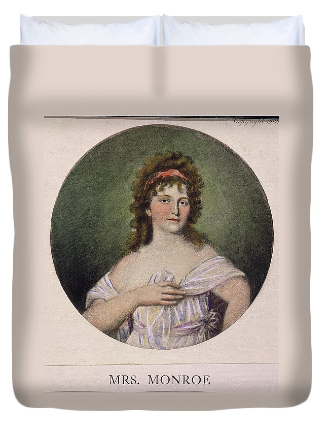 1796 Duvet Cover featuring the painting Elizabeth Monroe (1768-1830) by Granger