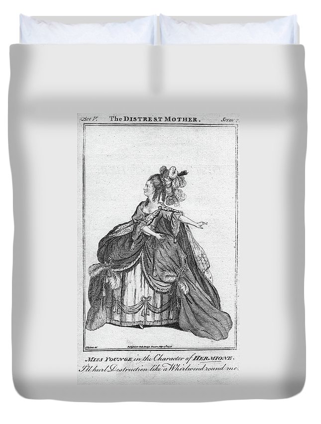 1776 Duvet Cover featuring the painting Elizabeth Younge (d by Granger