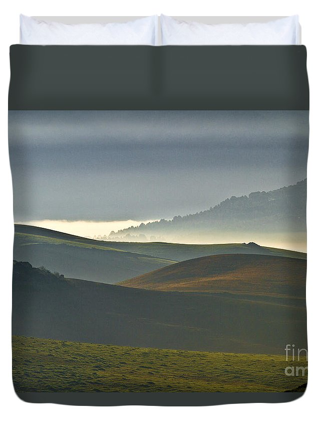 Landscape Duvet Cover featuring the photograph Embalses Del Guadalteba Landscape - Andalusia by Heiko Koehrer-Wagner