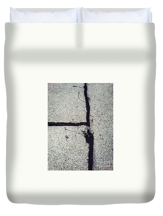 Abstract Duvet Cover featuring the photograph Emerging by Fei A