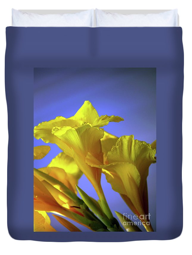 Fine Art Photography Duvet Cover featuring the photograph Emerging Into The Light I by Patricia Griffin Brett