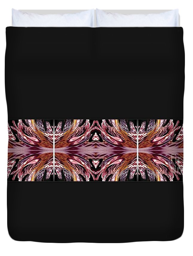 Mccombie Duvet Cover featuring the painting Empress Abstract Triptych by J McCombie