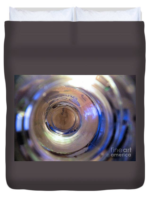 Abstract Art Duvet Cover featuring the photograph Empty by Robyn King