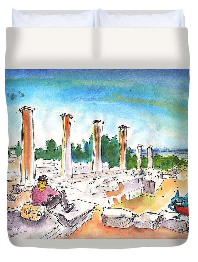 Travel Duvet Cover featuring the painting En Catimini by Miki De Goodaboom